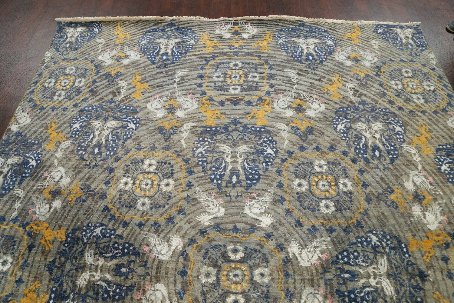 Vegetable Dye Animal Pictorial Abstract Oriental Area Rug 8x11 image 13