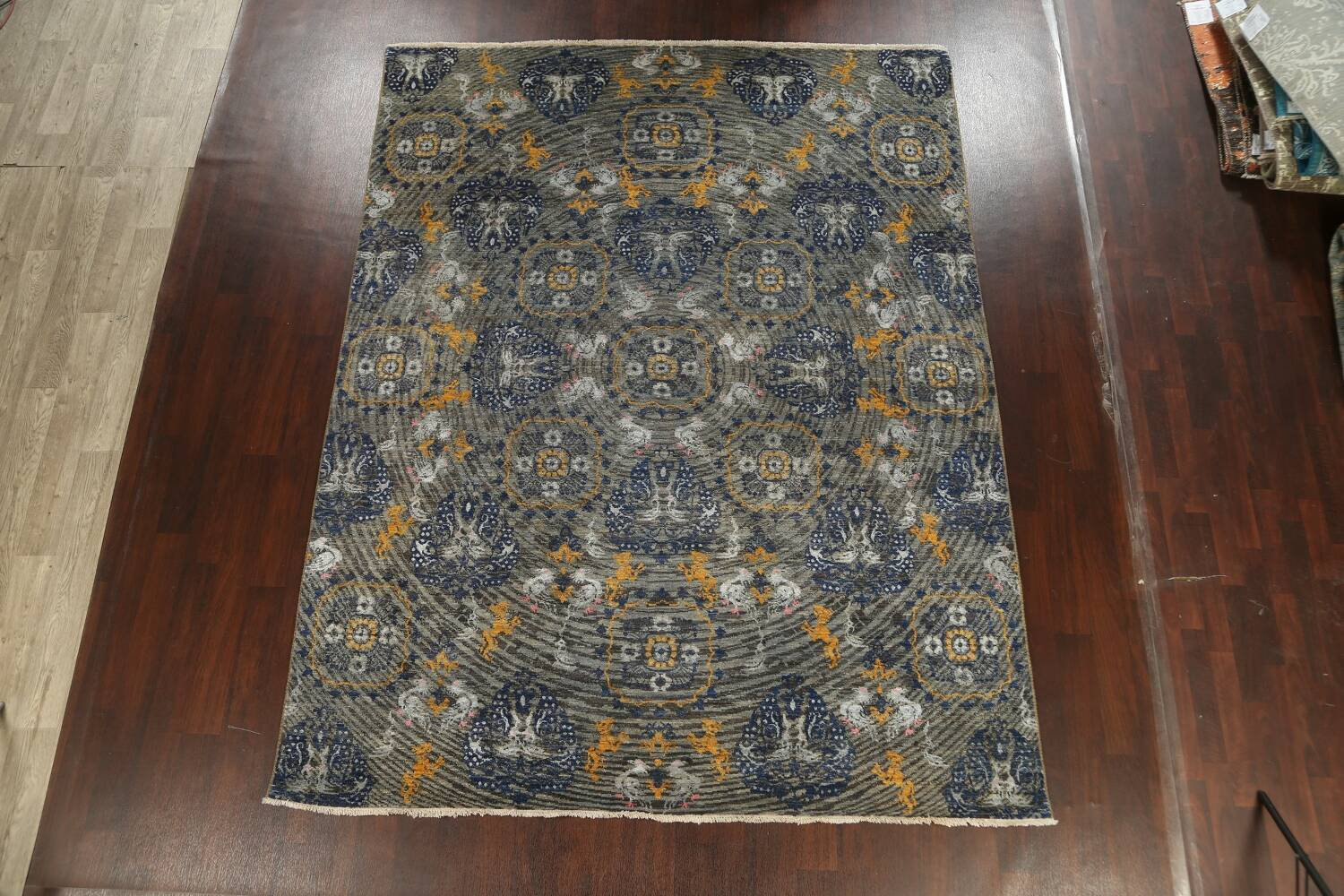 Vegetable Dye Animal Pictorial Abstract Oriental Area Rug 8x11 image 19