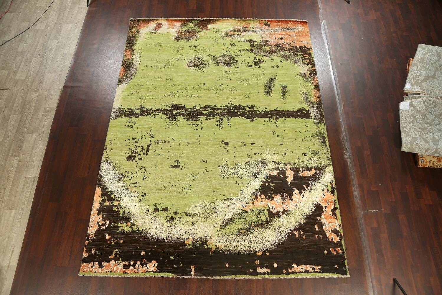 Contemporary Abstract Oriental Area Rug 9x12 image 2