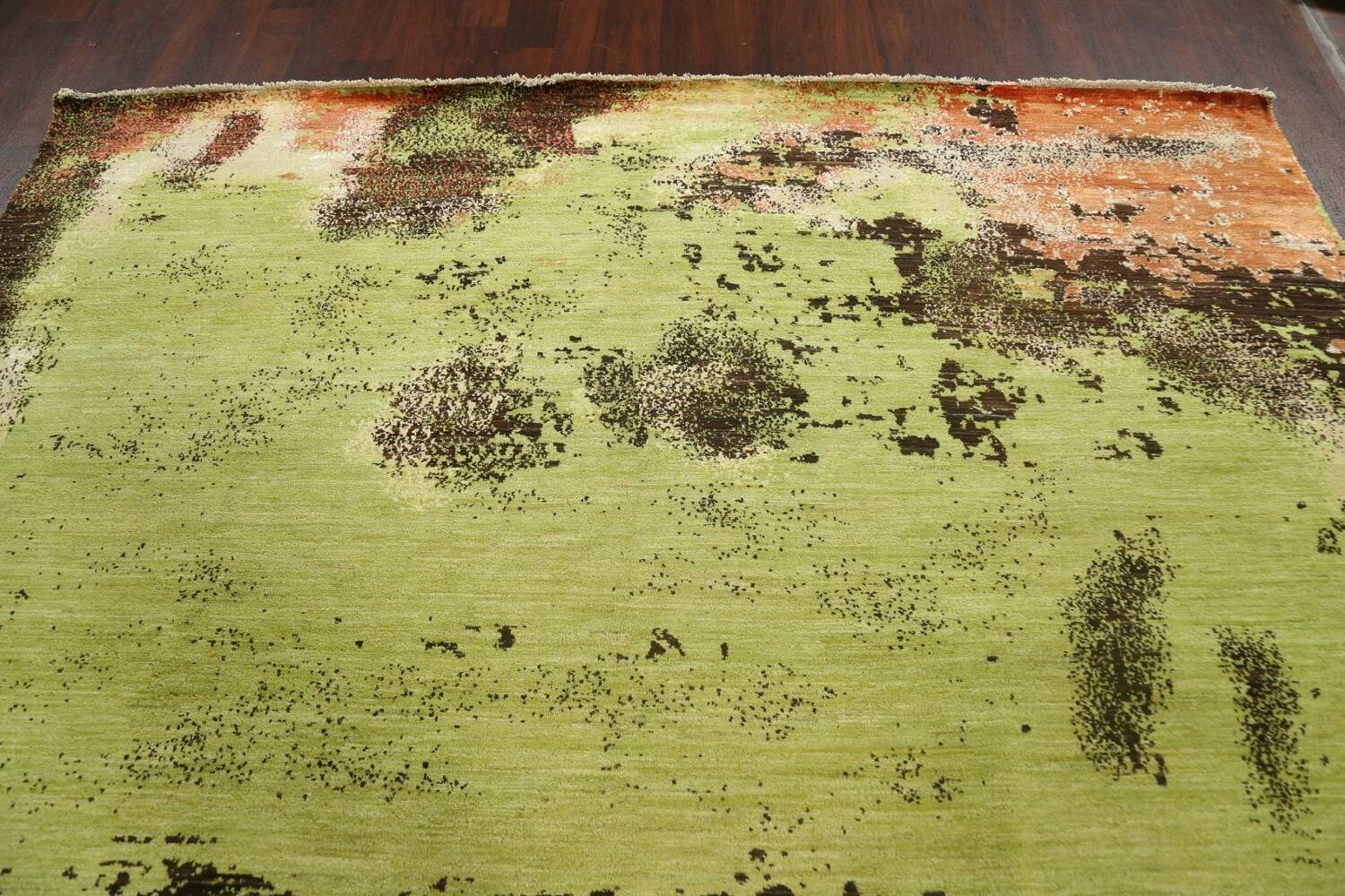 Contemporary Abstract Oriental Area Rug 9x12 image 12