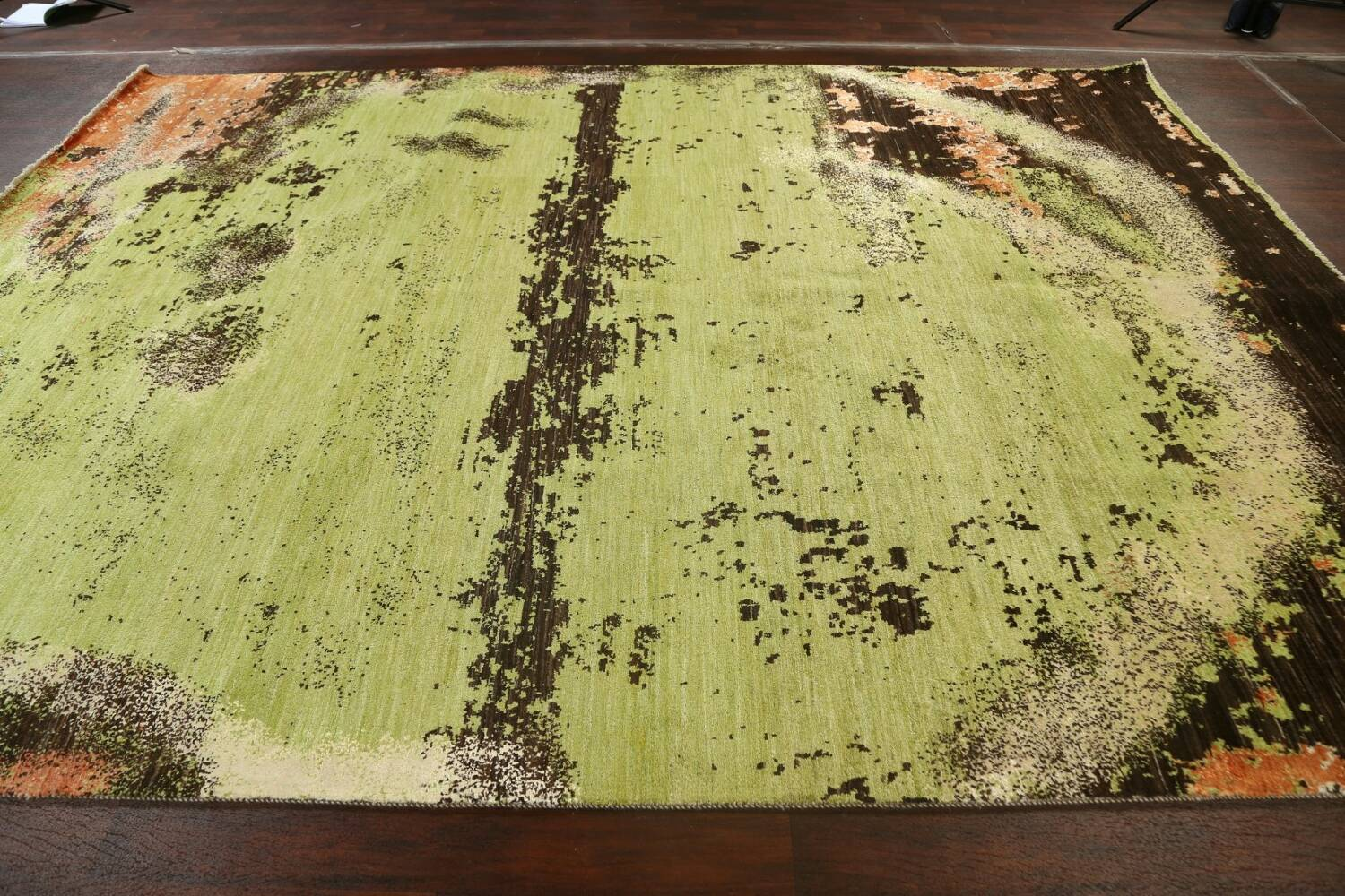 Contemporary Abstract Oriental Area Rug 9x12 image 15