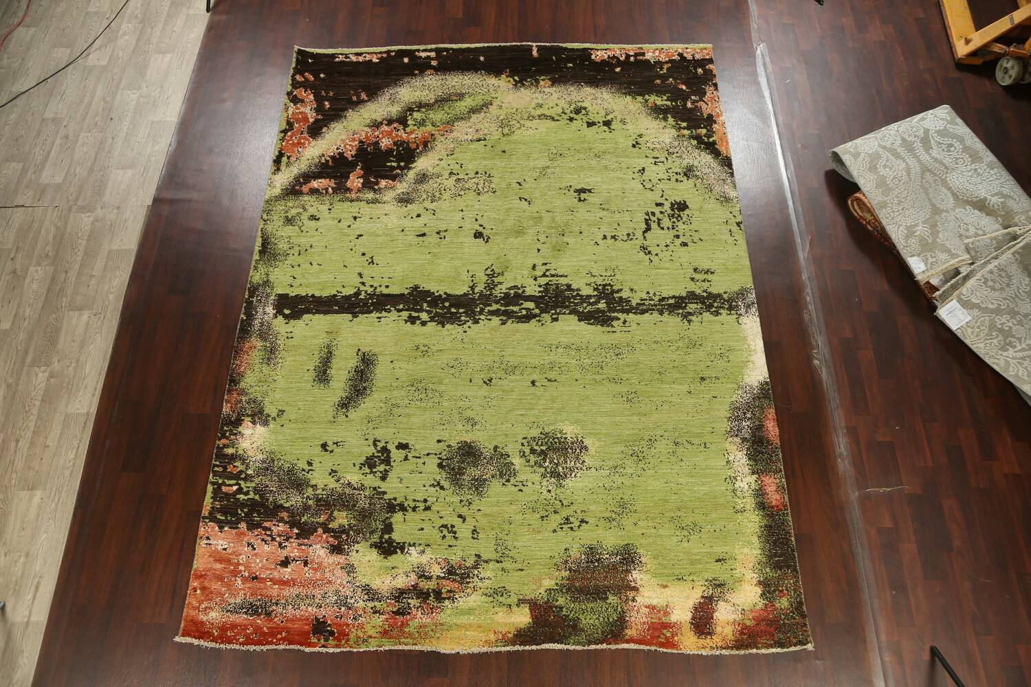 Contemporary Abstract Oriental Area Rug 9x12 image 16