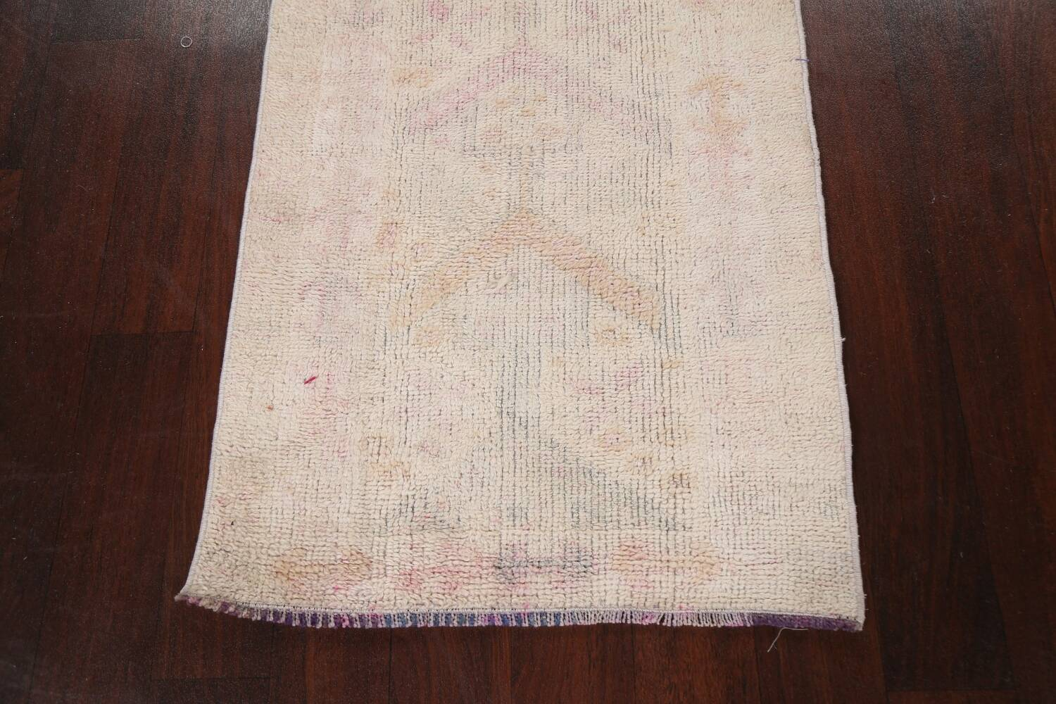 Muted Geometric Oushak Oriental Runner Rug 2x13 image 8