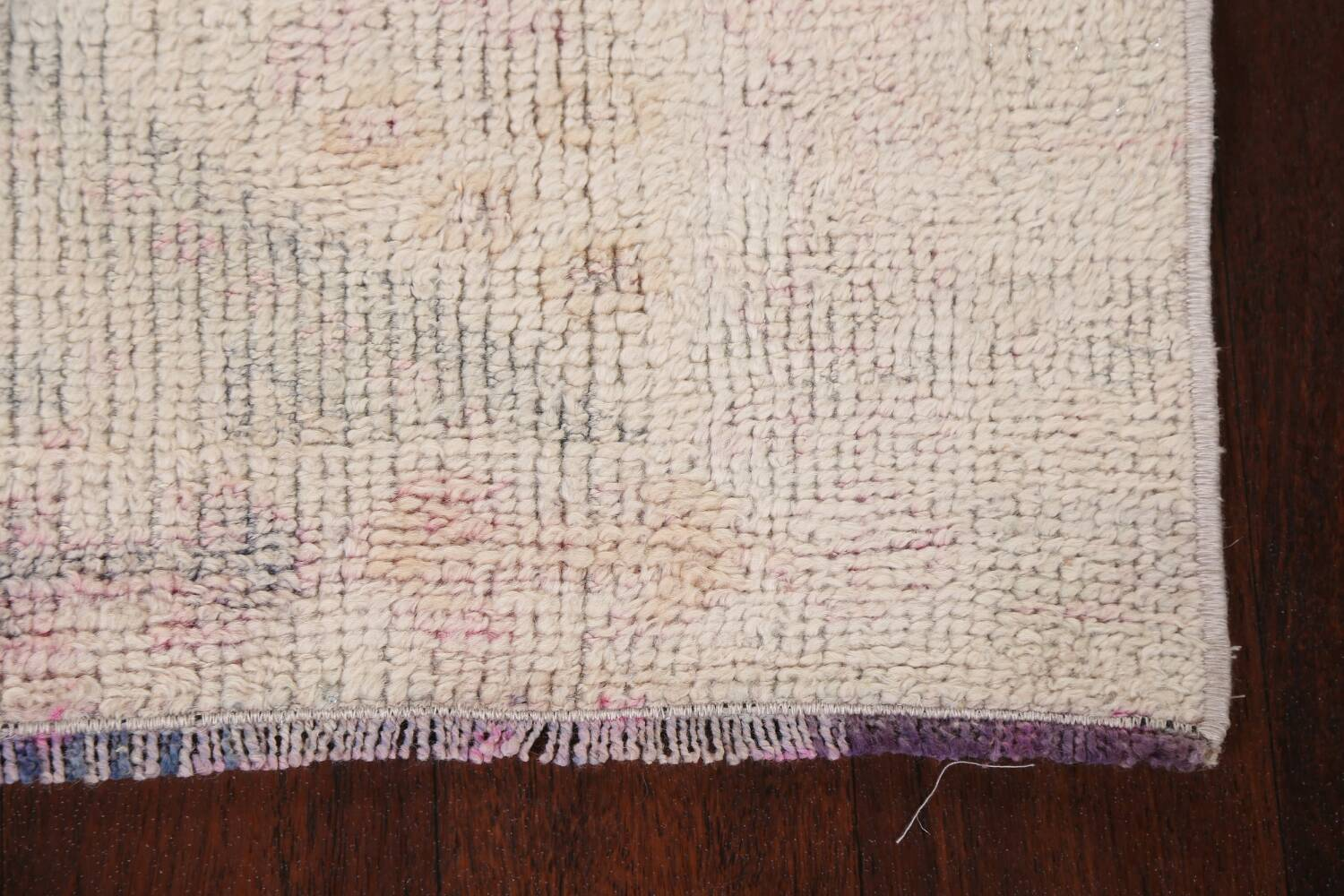 Muted Geometric Oushak Oriental Runner Rug 2x13 image 5