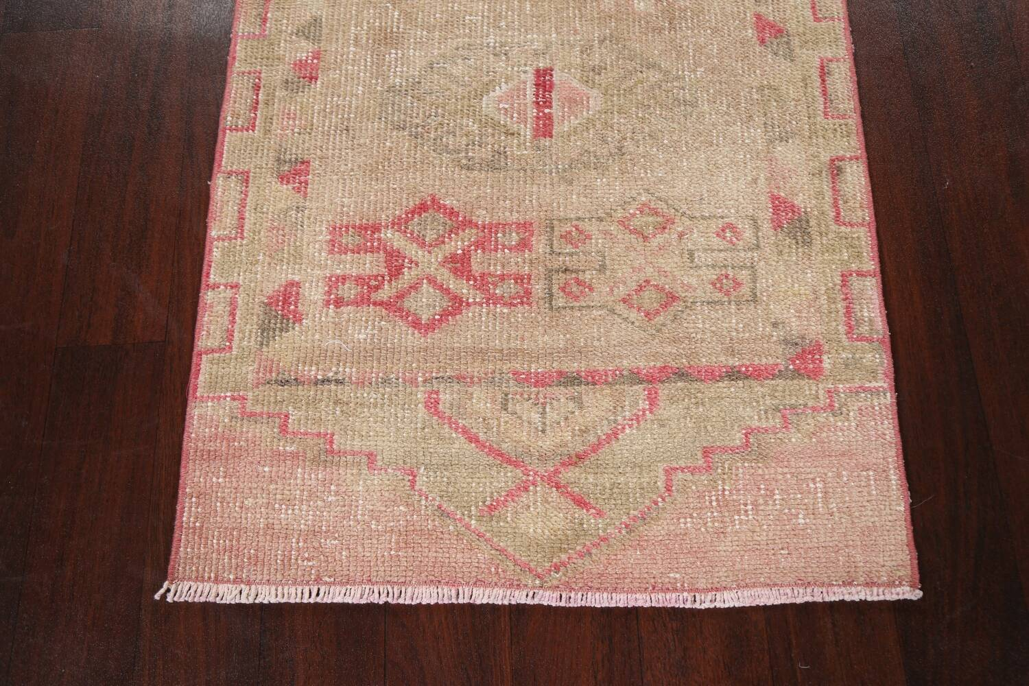 Muted Geometric Oushak Oriental Runner Rug 3x13 image 8