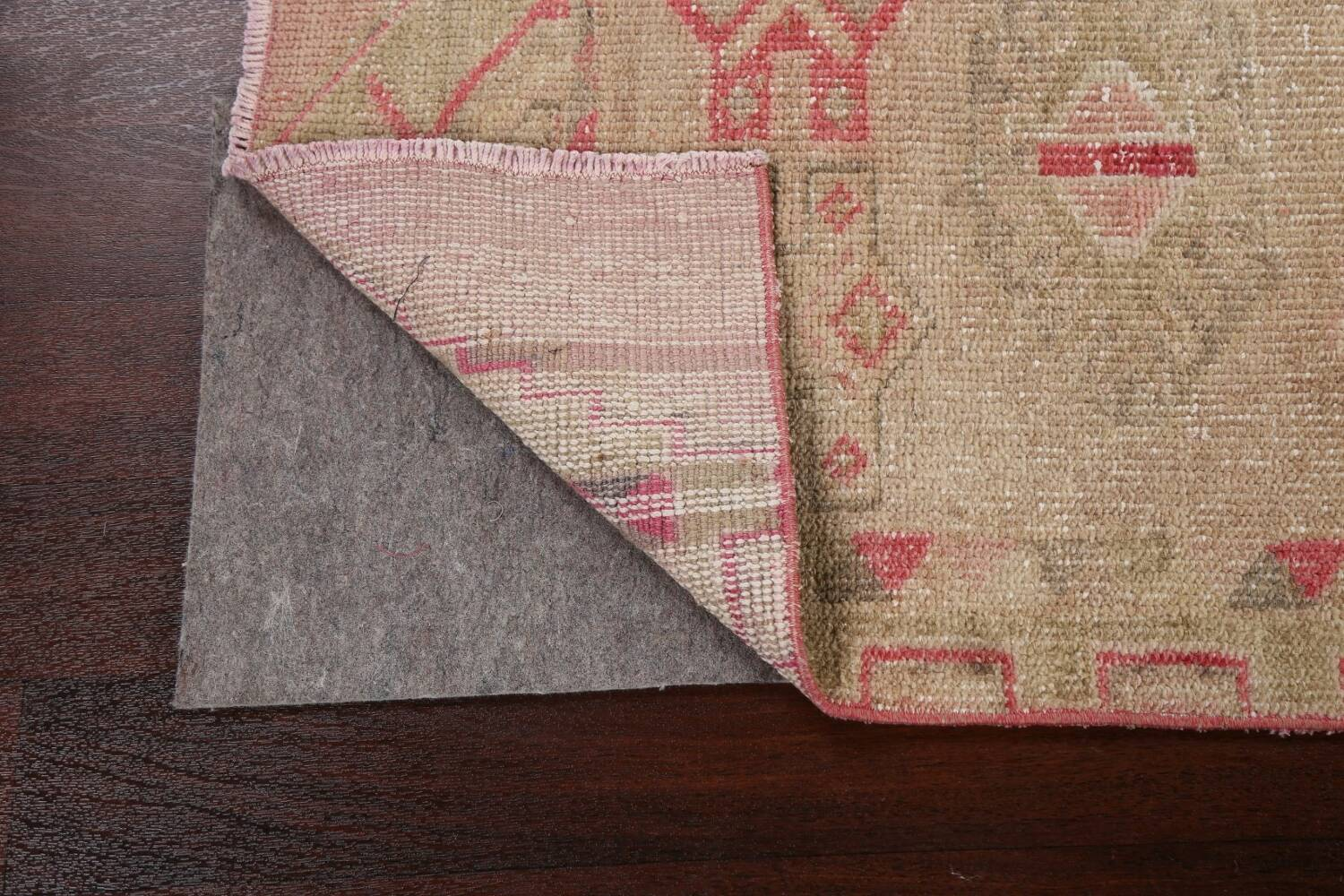 Muted Geometric Oushak Oriental Runner Rug 3x13 image 7