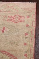 Muted Geometric Oushak Oriental Runner Rug 3x13 image 13