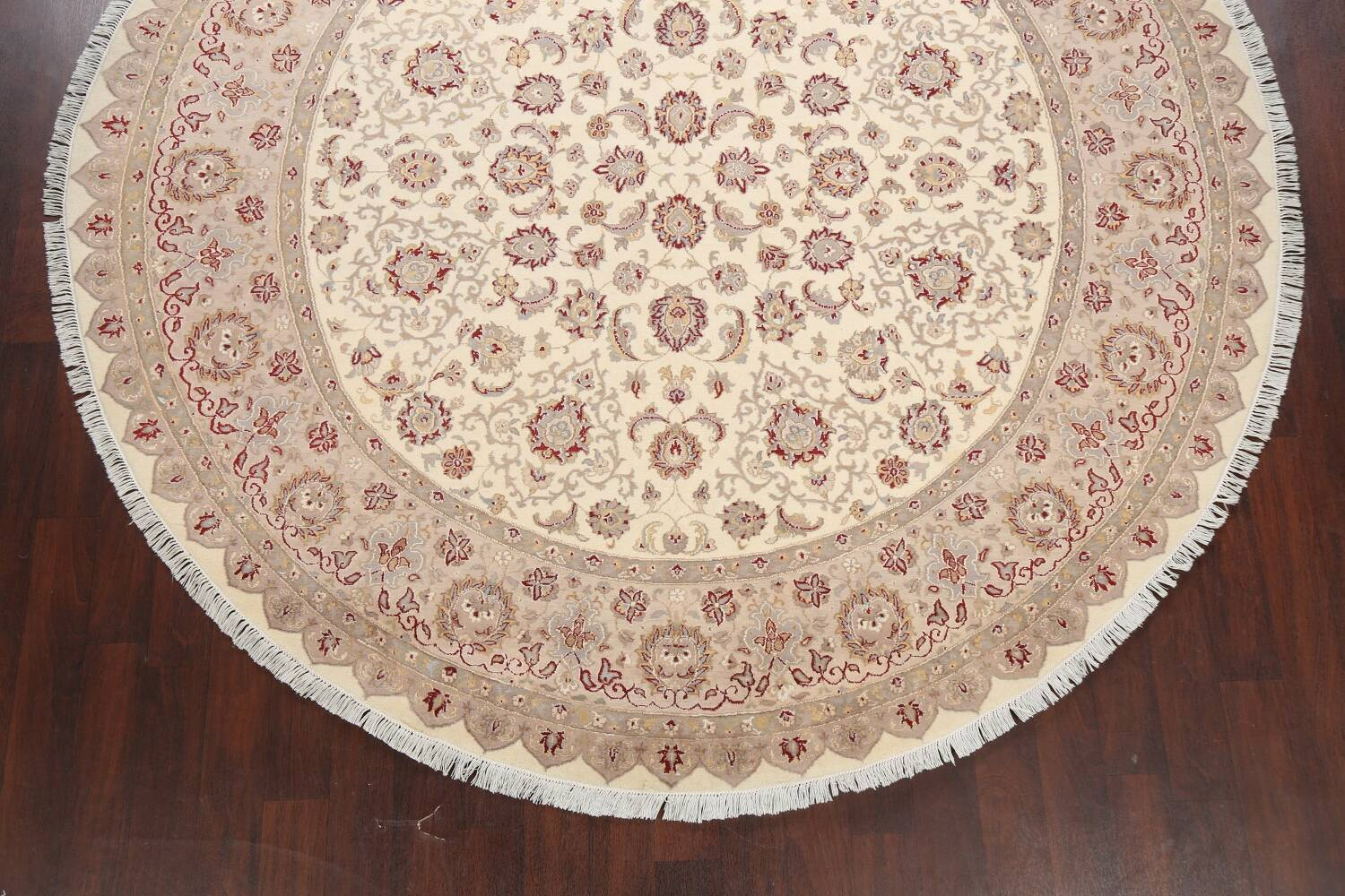 Vegetable Dye Royal-Tabriz Oriental Area Rug 9x9 Round image 5