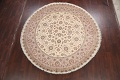 Vegetable Dye Royal-Tabriz Oriental Area Rug 9x9 Round image 13