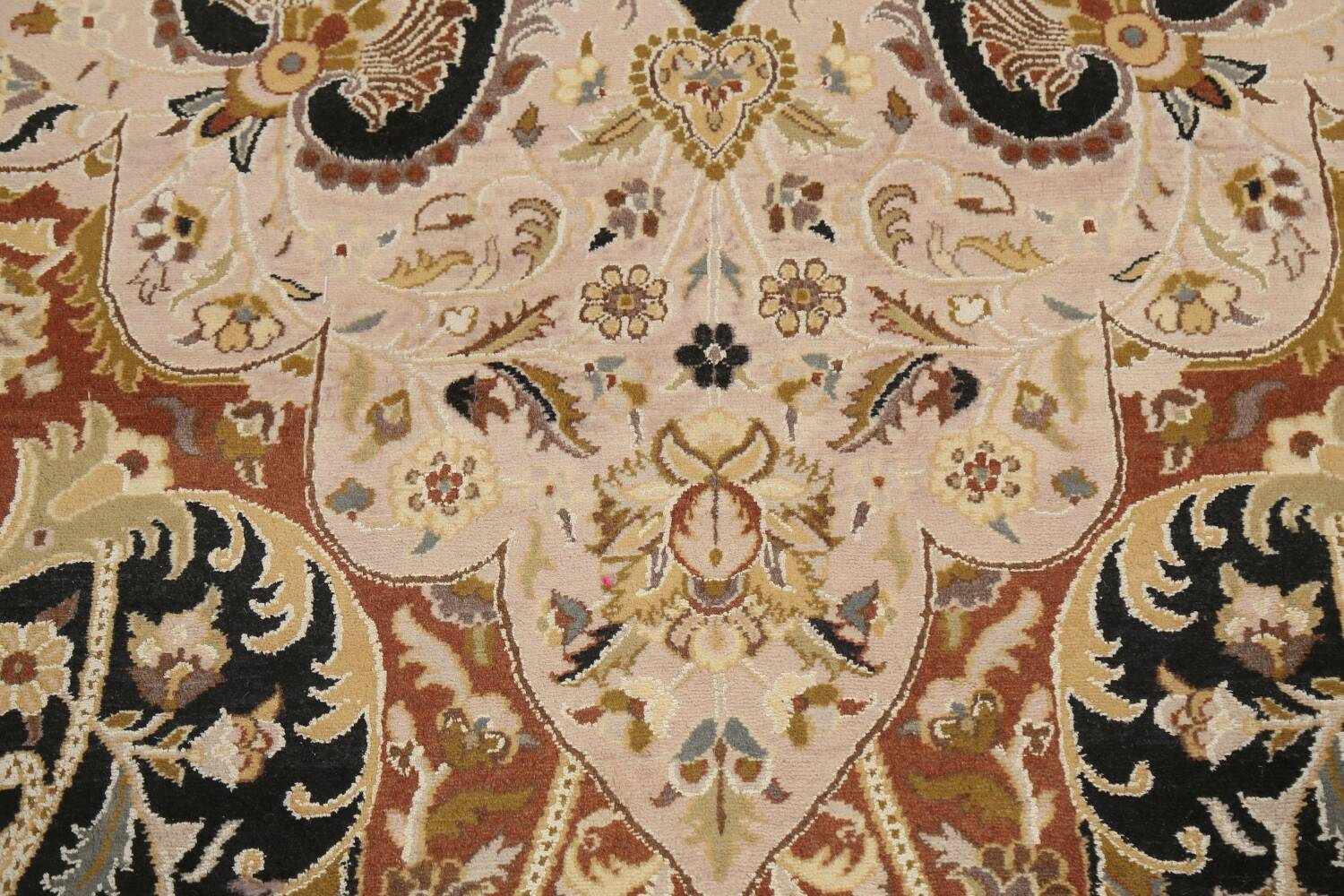 Vegetable Dye Royal-Tabriz Oriental Area Rug 12x12 Round image 10