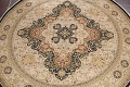 Vegetable Dye Royal-Tabriz Oriental Area Rug 12x12 Round image 3