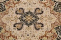 Vegetable Dye Royal-Tabriz Oriental Area Rug 12x12 Round image 4