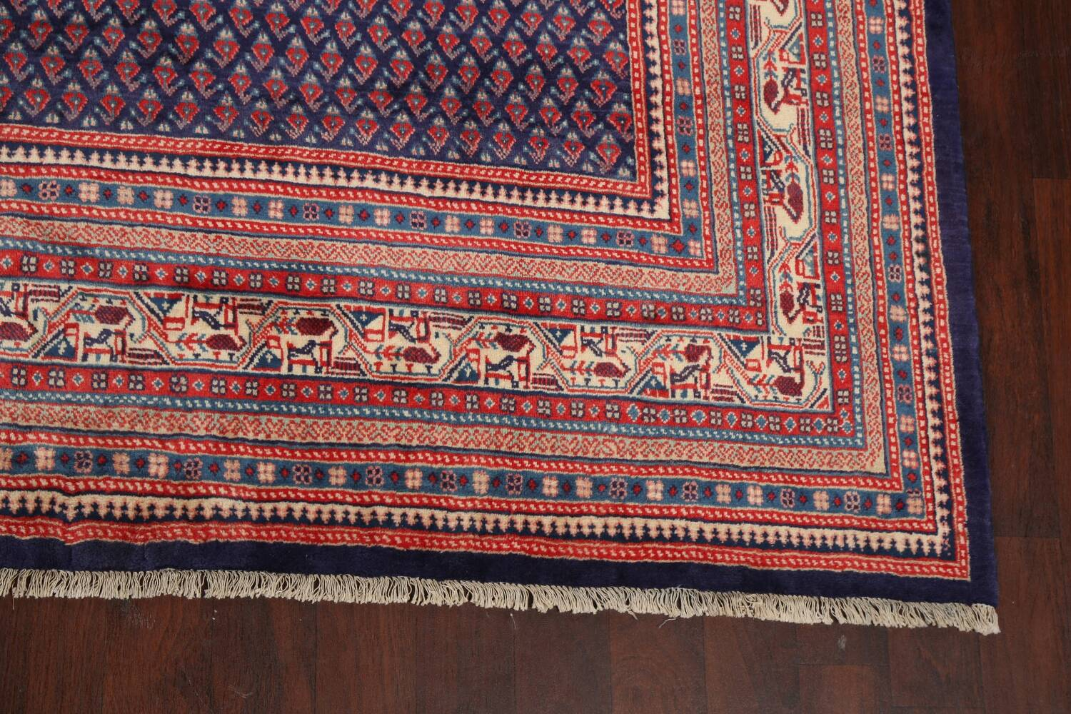 All-Over Boteh Botemir Persian Area Rug 9x12 image 5