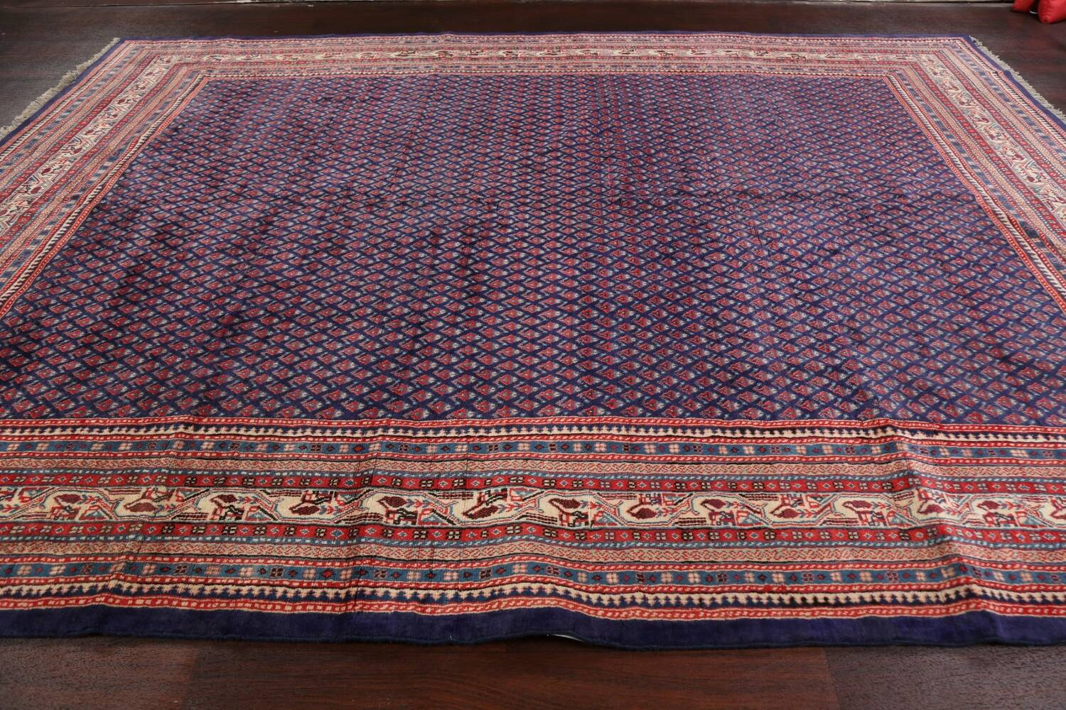 All-Over Boteh Botemir Persian Area Rug 9x12 image 14