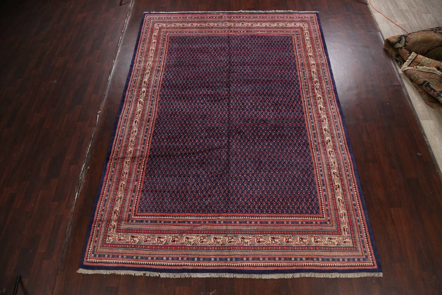 All-Over Boteh Botemir Persian Area Rug 9x12 image 15