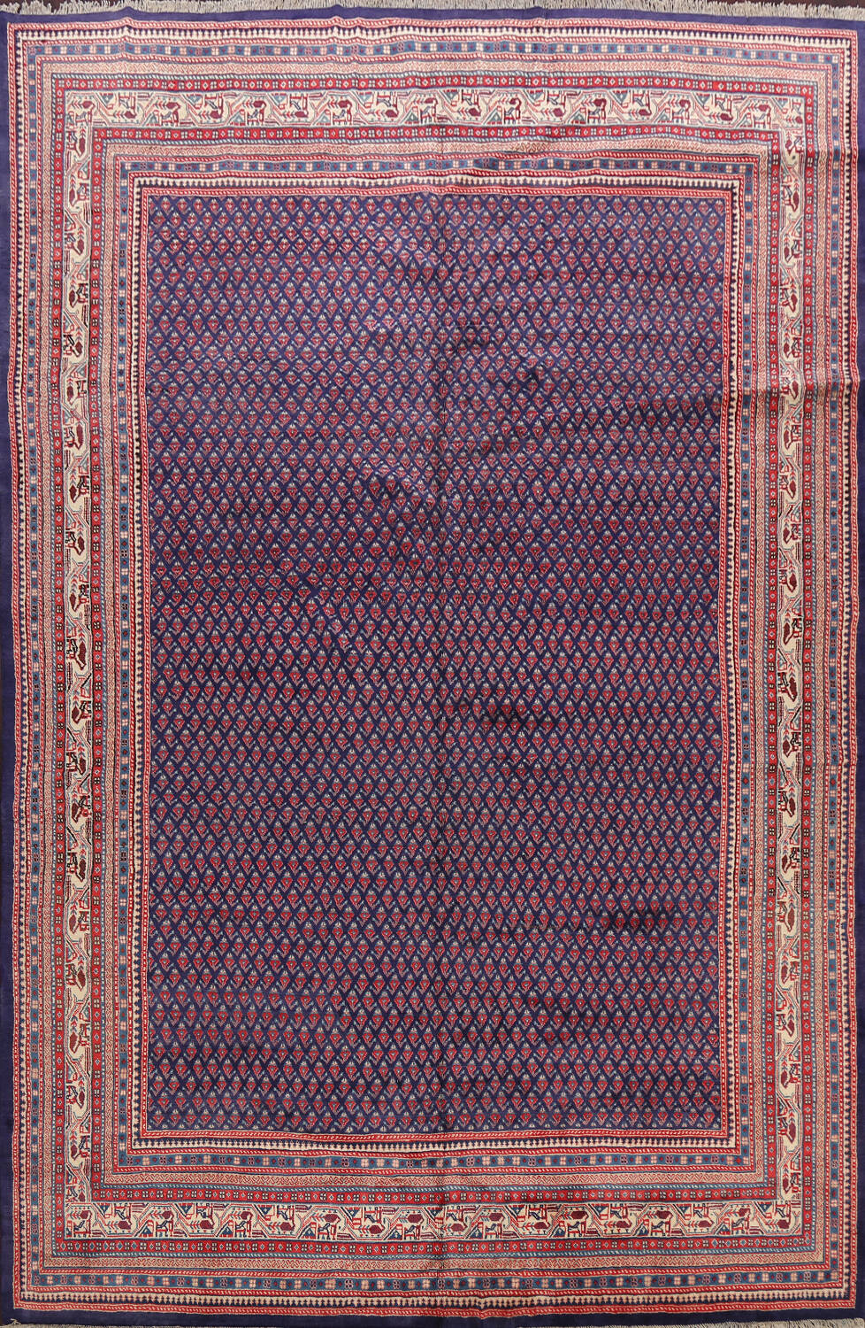 All-Over Boteh Botemir Persian Area Rug 9x12 image 1
