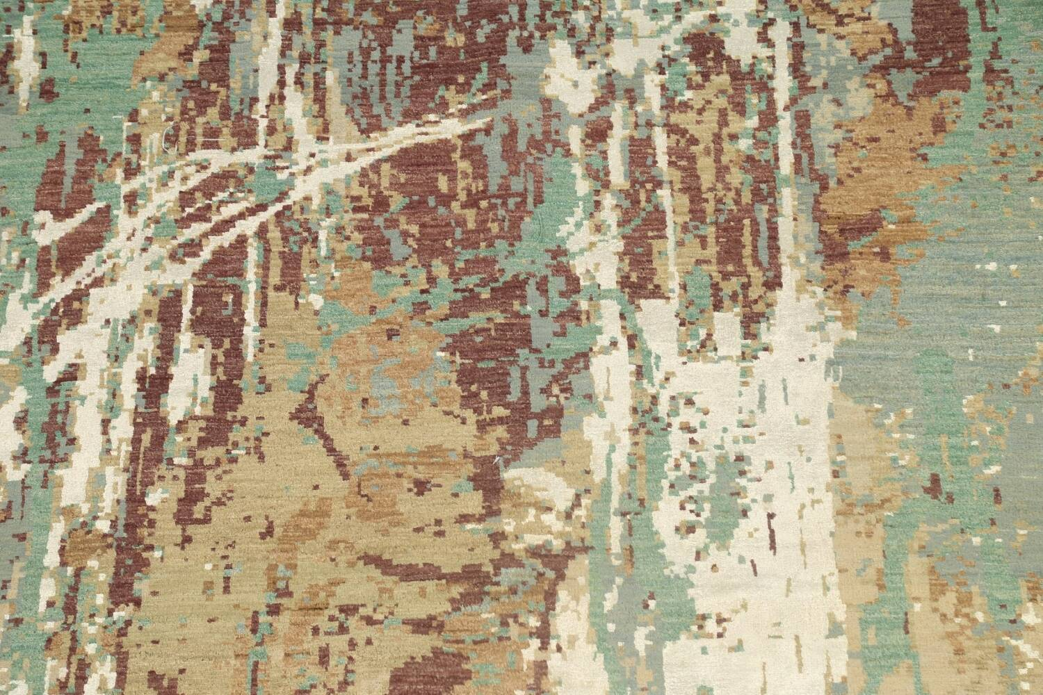 Vegetable Dye Contemporary Abstract Oriental Area Rug 6x9 image 4