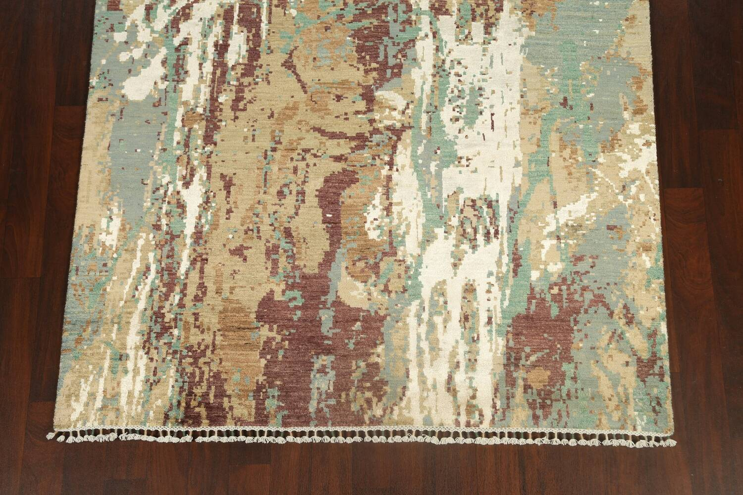 Vegetable Dye Contemporary Abstract Oriental Area Rug 6x9 image 8