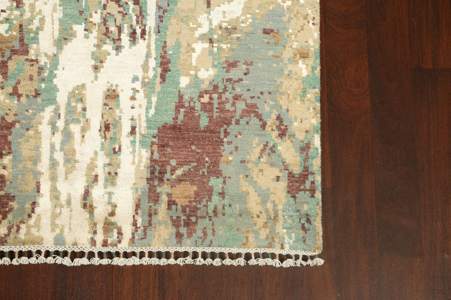 Vegetable Dye Contemporary Abstract Oriental Area Rug 6x9 image 5