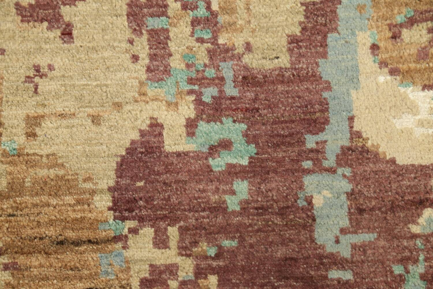 Vegetable Dye Contemporary Abstract Oriental Area Rug 6x9 image 9