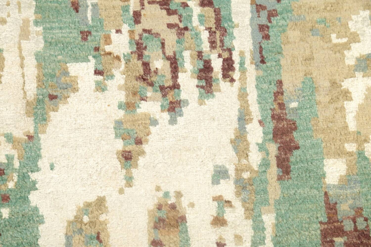 Vegetable Dye Contemporary Abstract Oriental Area Rug 6x9 image 11