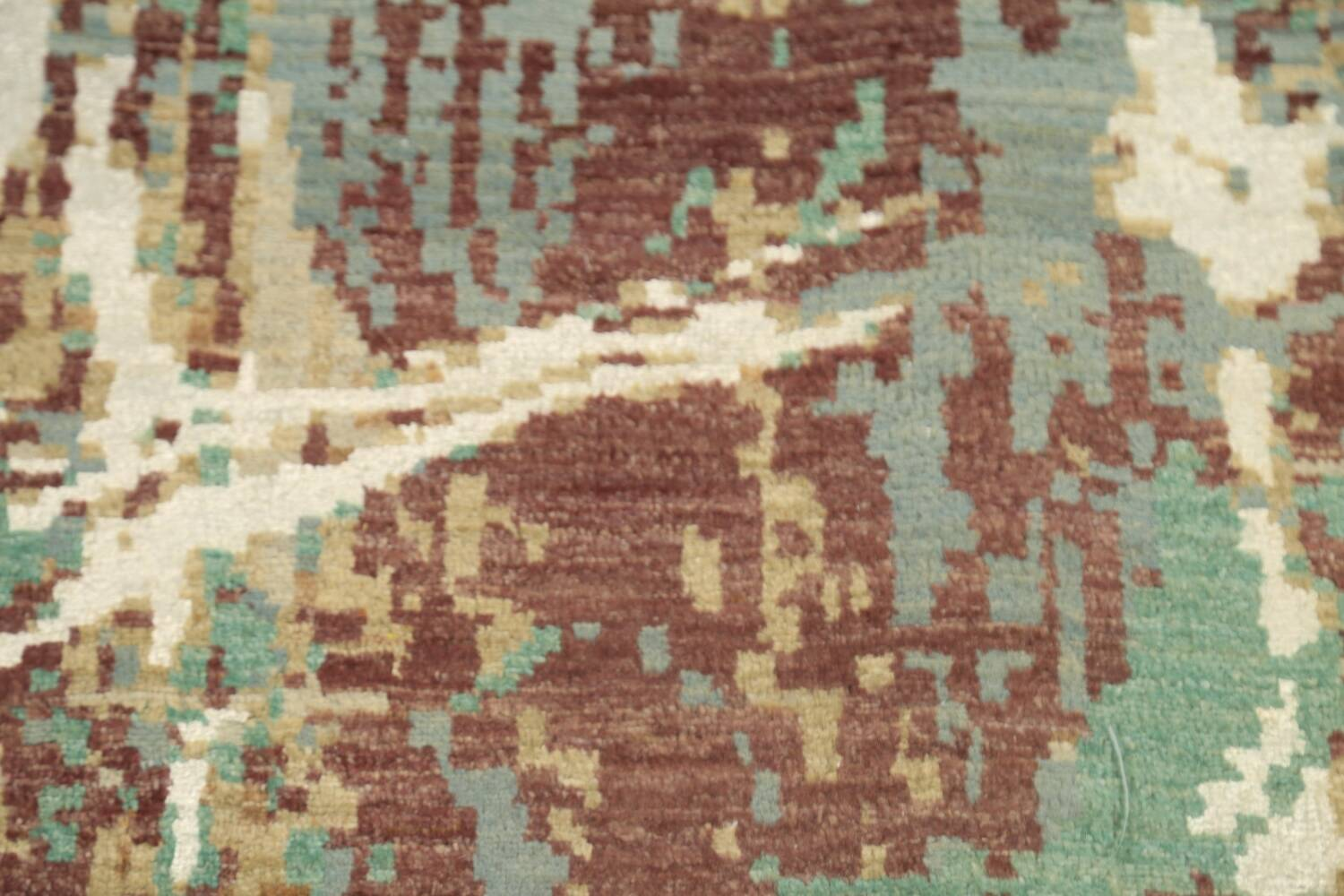 Vegetable Dye Contemporary Abstract Oriental Area Rug 6x9 image 12