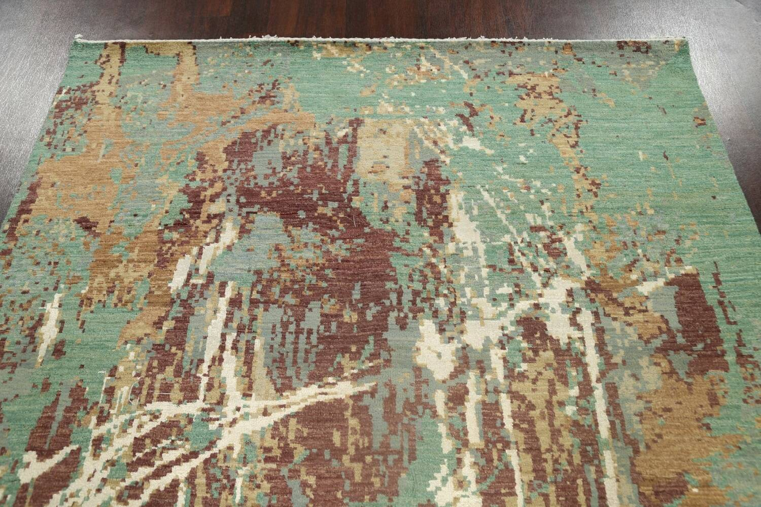 Vegetable Dye Contemporary Abstract Oriental Area Rug 6x9 image 13