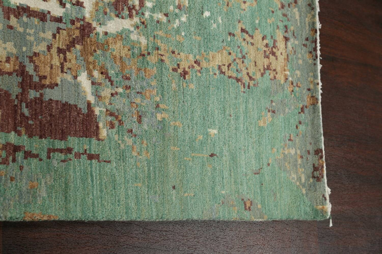 Vegetable Dye Contemporary Abstract Oriental Area Rug 6x9 image 14