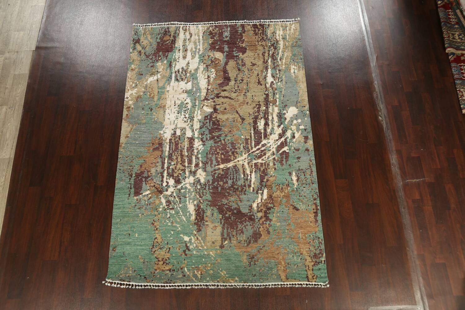 Vegetable Dye Contemporary Abstract Oriental Area Rug 6x9 image 17