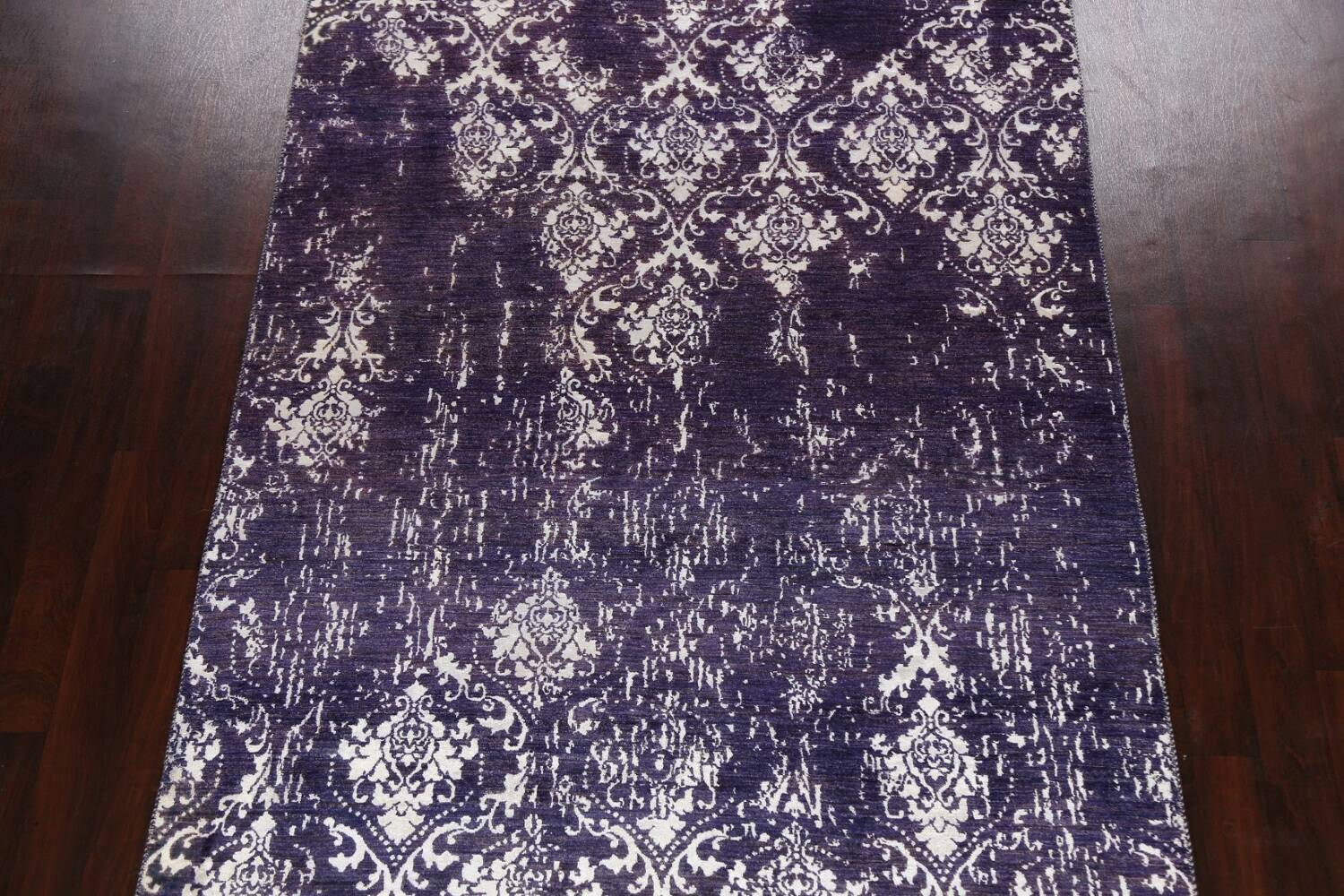 Vegetable Dye Distressed Abstract Oriental Area Rug 6x9 image 3