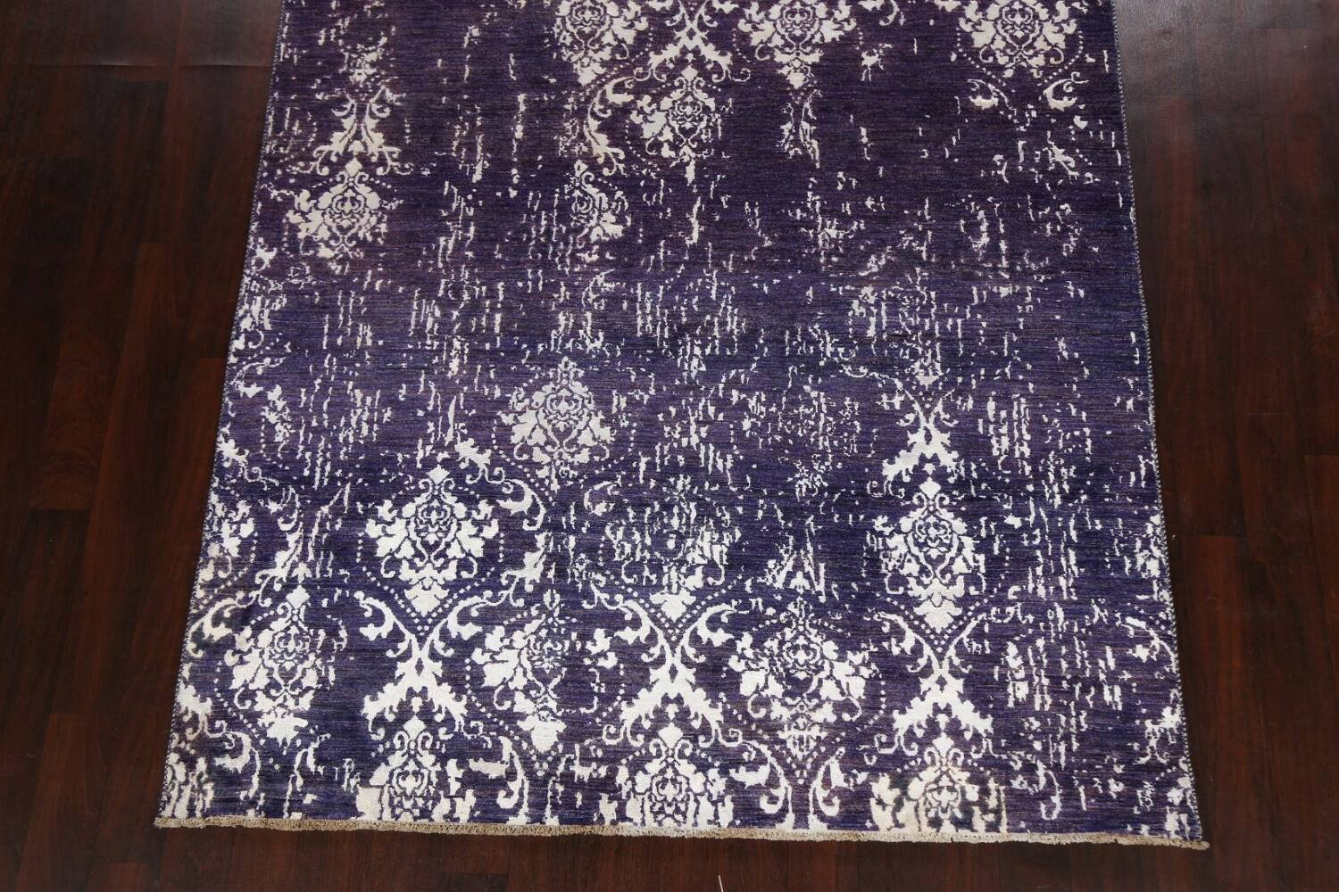 Vegetable Dye Distressed Abstract Oriental Area Rug 6x9 image 8