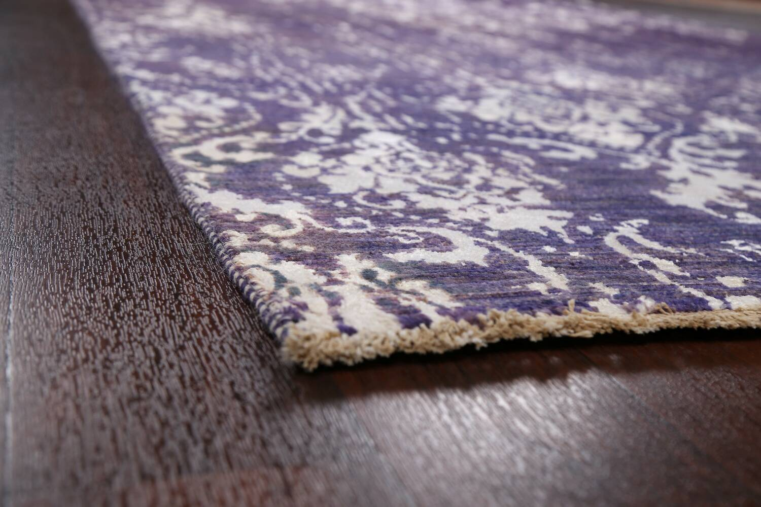 Vegetable Dye Distressed Abstract Oriental Area Rug 6x9 image 6