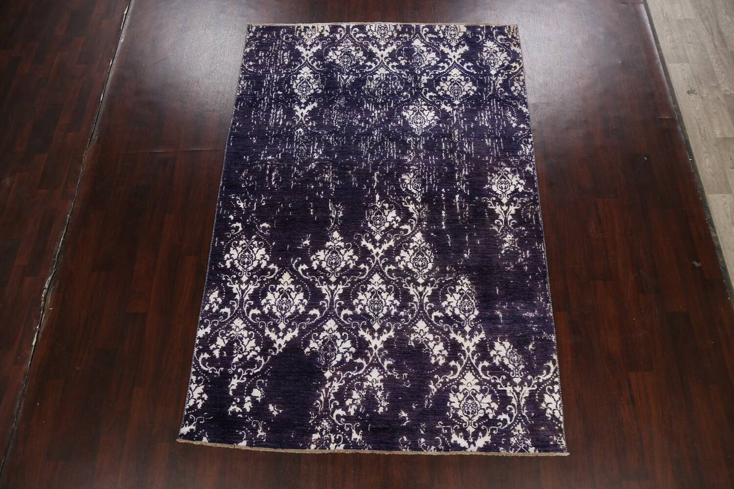 Vegetable Dye Distressed Abstract Oriental Area Rug 6x9 image 14