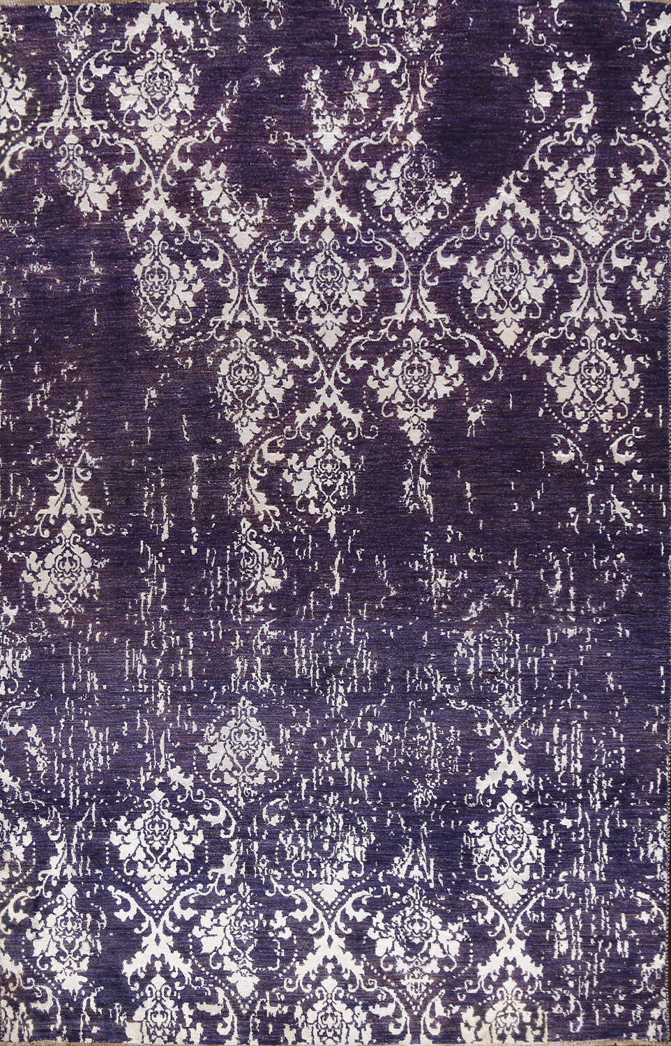 Vegetable Dye Distressed Abstract Oriental Area Rug 6x9 image 1