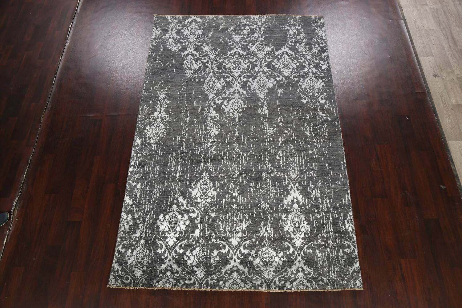 Vegetable Dye Distressed Abstract Oriental Area Rug 6x9 image 2