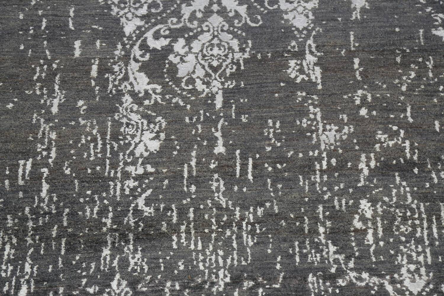 Vegetable Dye Distressed Abstract Oriental Area Rug 6x9 image 4