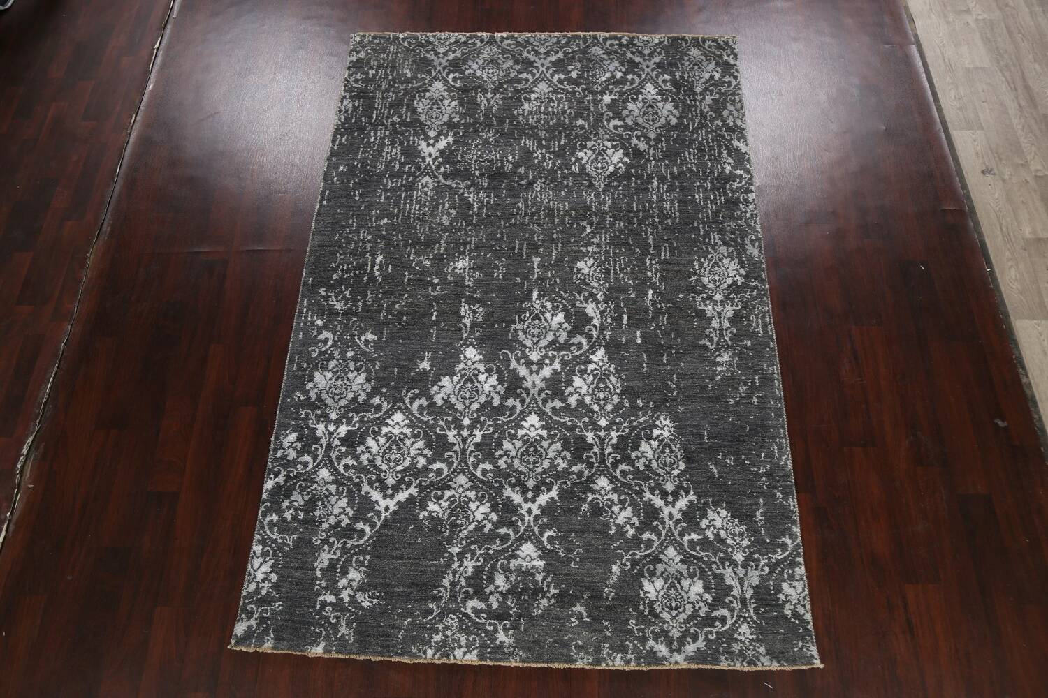 Vegetable Dye Distressed Abstract Oriental Area Rug 6x9 image 15