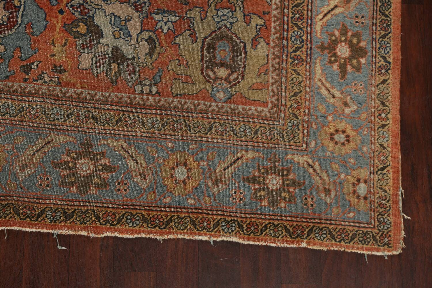 Pre-1900 Antique Vegetable Dye Sultanabad Persian Area Rug 9x12 image 5