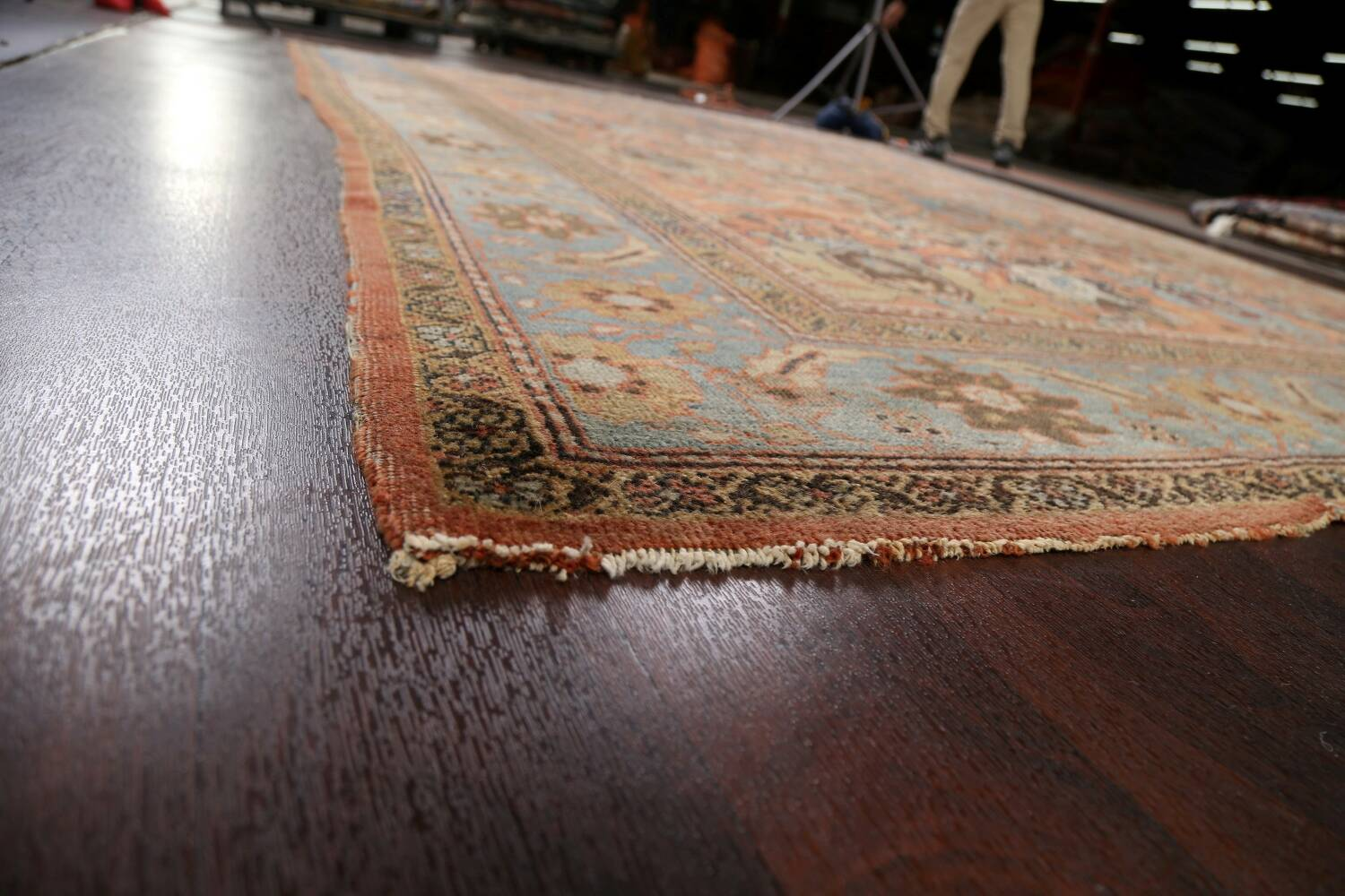 Pre-1900 Antique Vegetable Dye Sultanabad Persian Area Rug 9x12 image 6