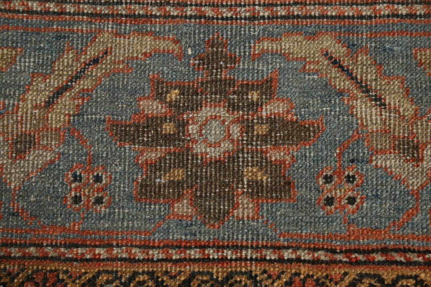Pre-1900 Antique Vegetable Dye Sultanabad Persian Area Rug 9x12 image 9