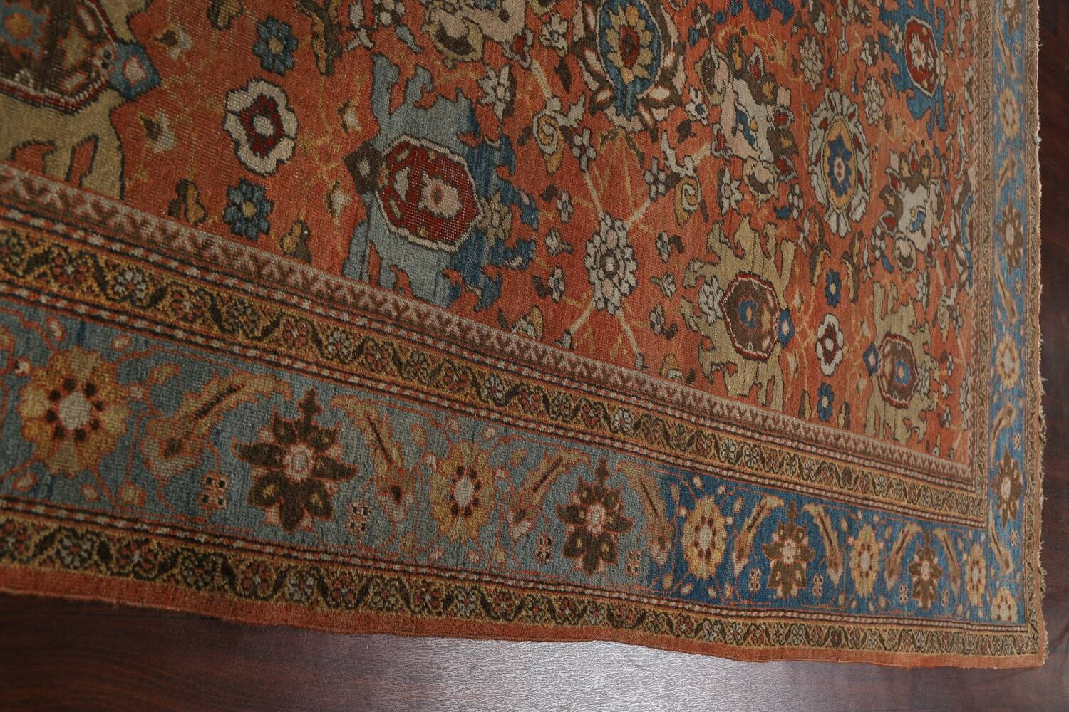 Pre-1900 Antique Vegetable Dye Sultanabad Persian Area Rug 9x12 image 20