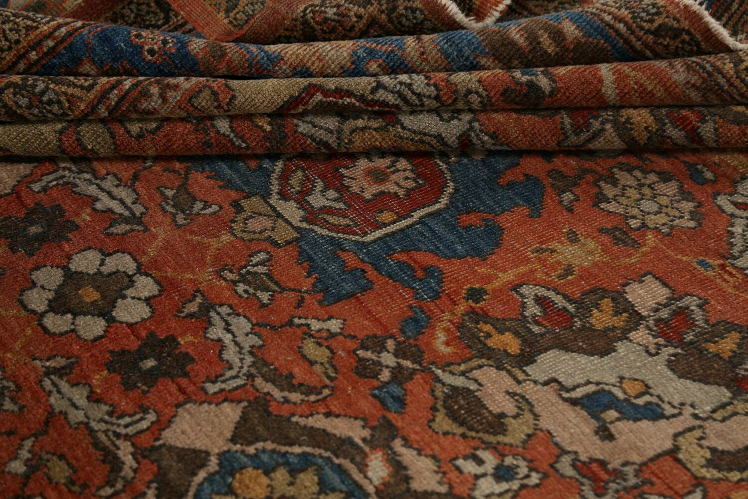 Pre-1900 Antique Vegetable Dye Sultanabad Persian Area Rug 9x12 image 23