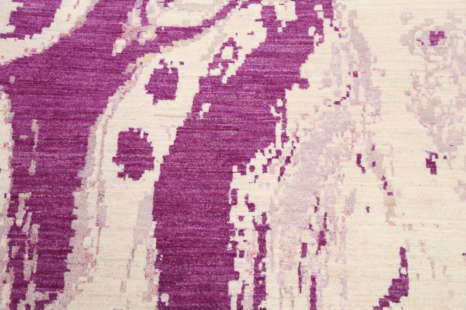 Vegetable Dye Contemporary Abstract Oriental Area Rug 5x6 image 9