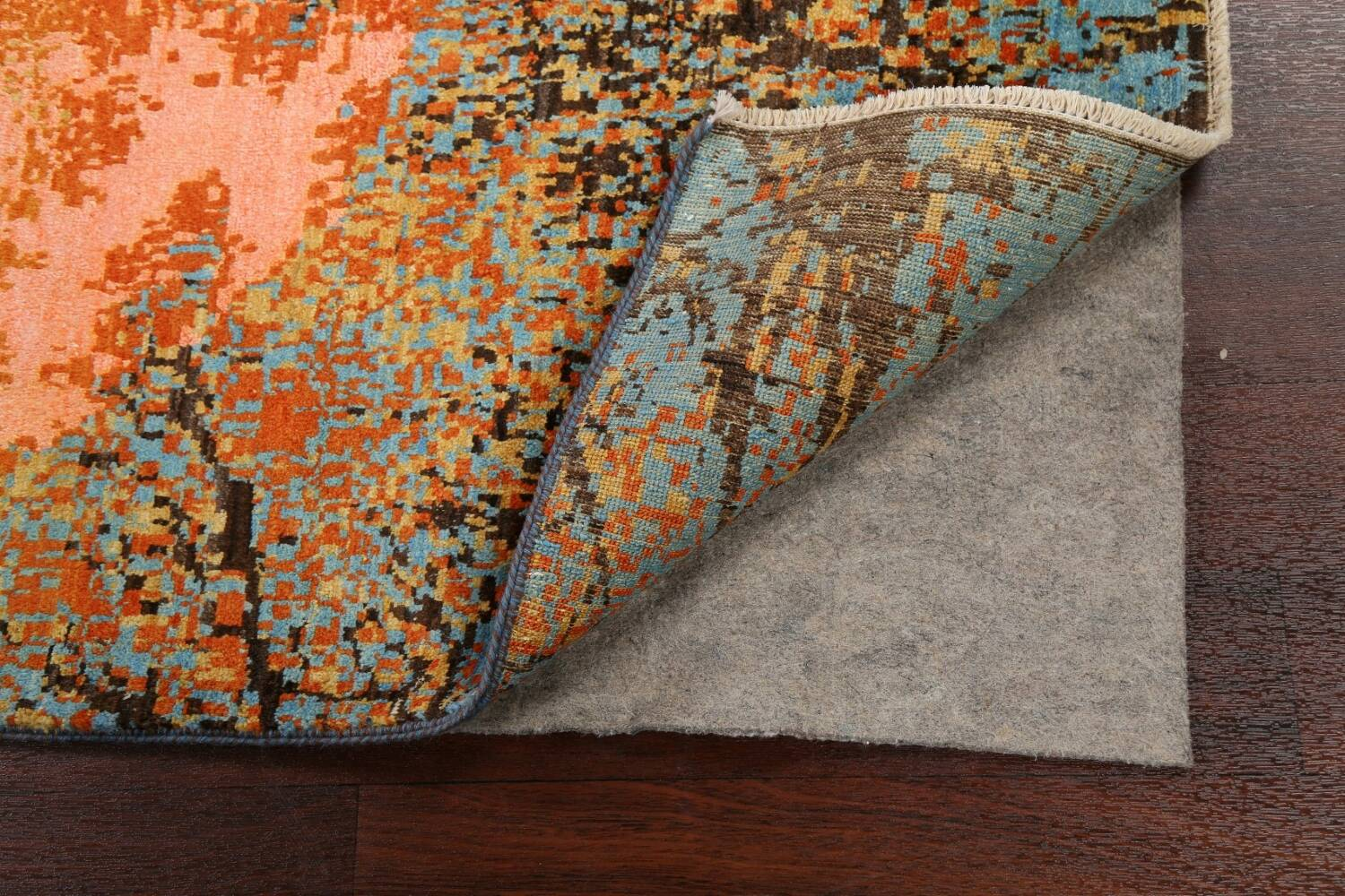 Vegetable Dye Contemporary Abstract Oriental Area Rug 4x6 image 7