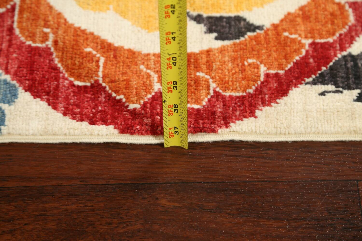 All-Over Floral IKats Oriental Runner Rug 3x8 image 18