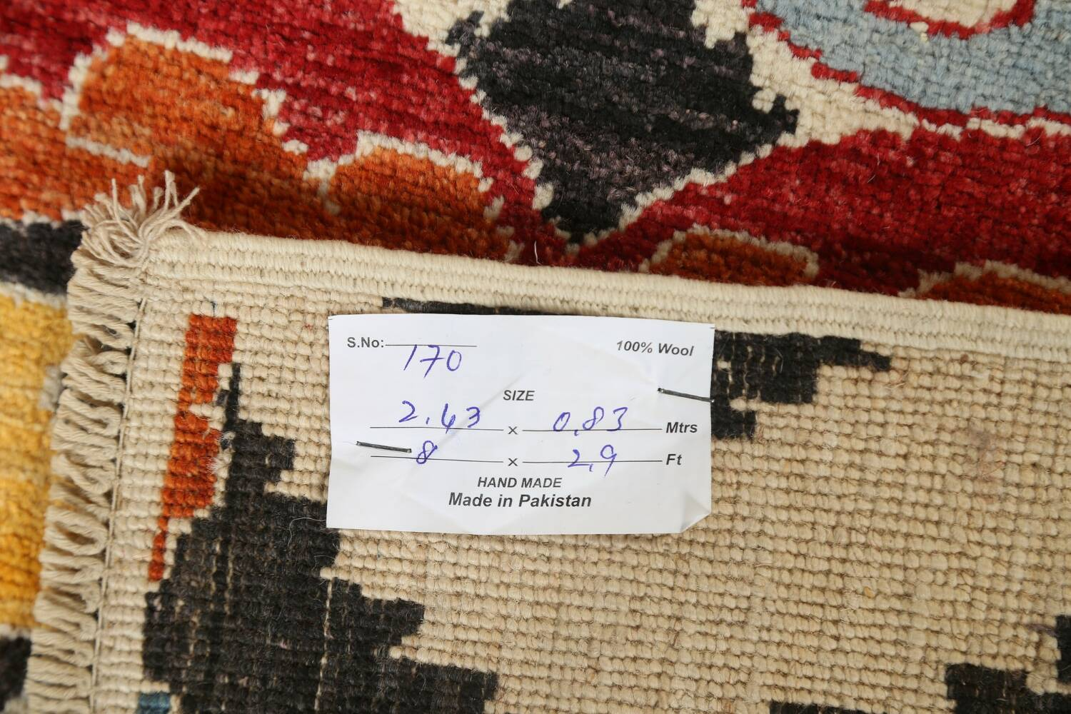 All-Over Floral IKats Oriental Runner Rug 3x8 image 20