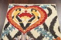 All-Over Floral IKats Oriental Runner Rug 3x8 image 11