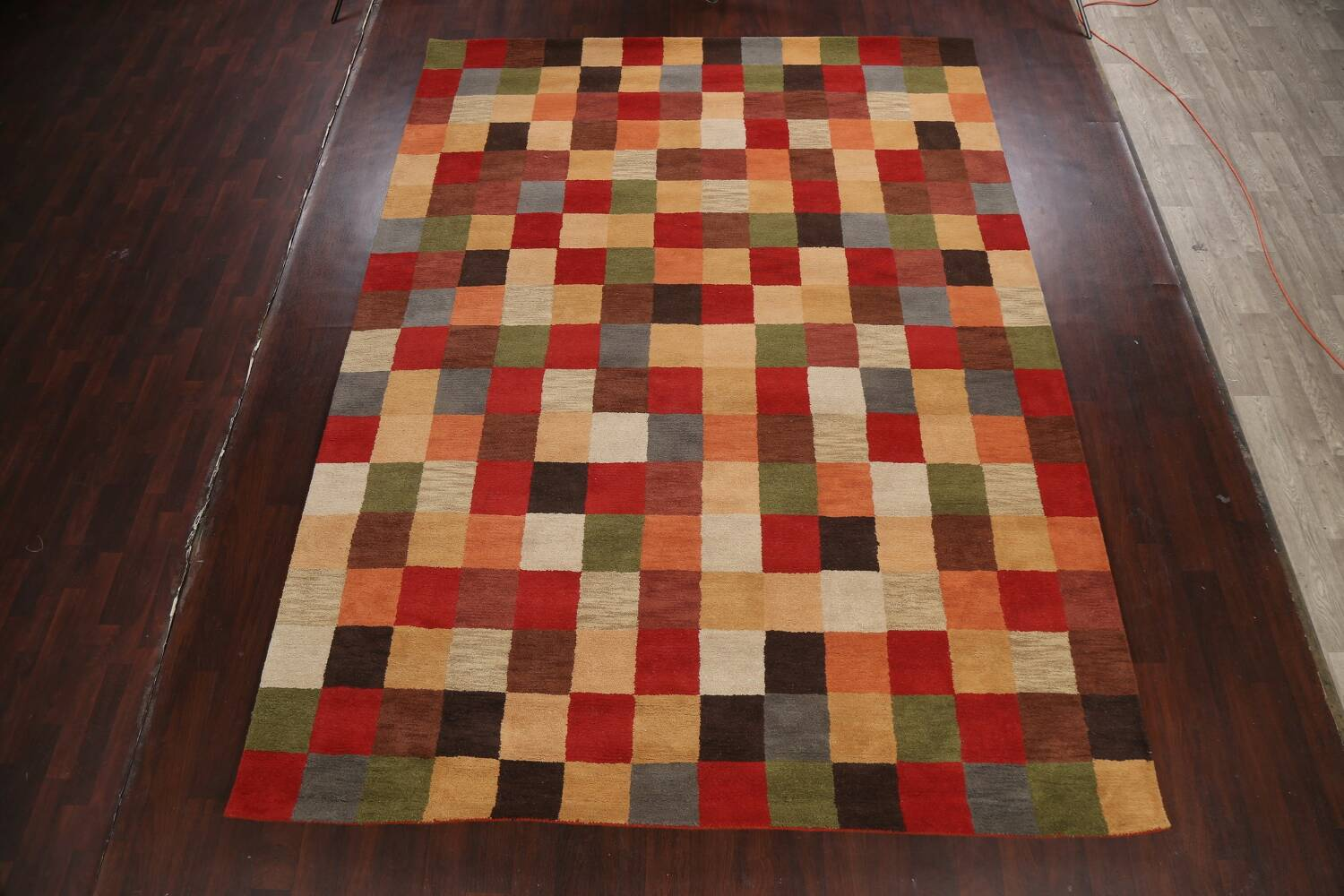 Checkered Area Rug 9x12 image 2