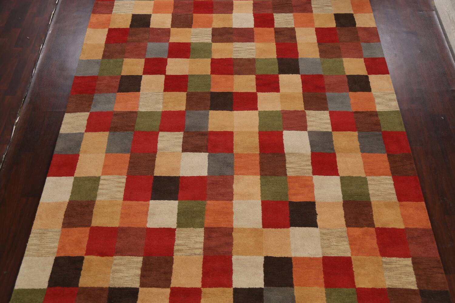 Checkered Area Rug 9x12 image 3