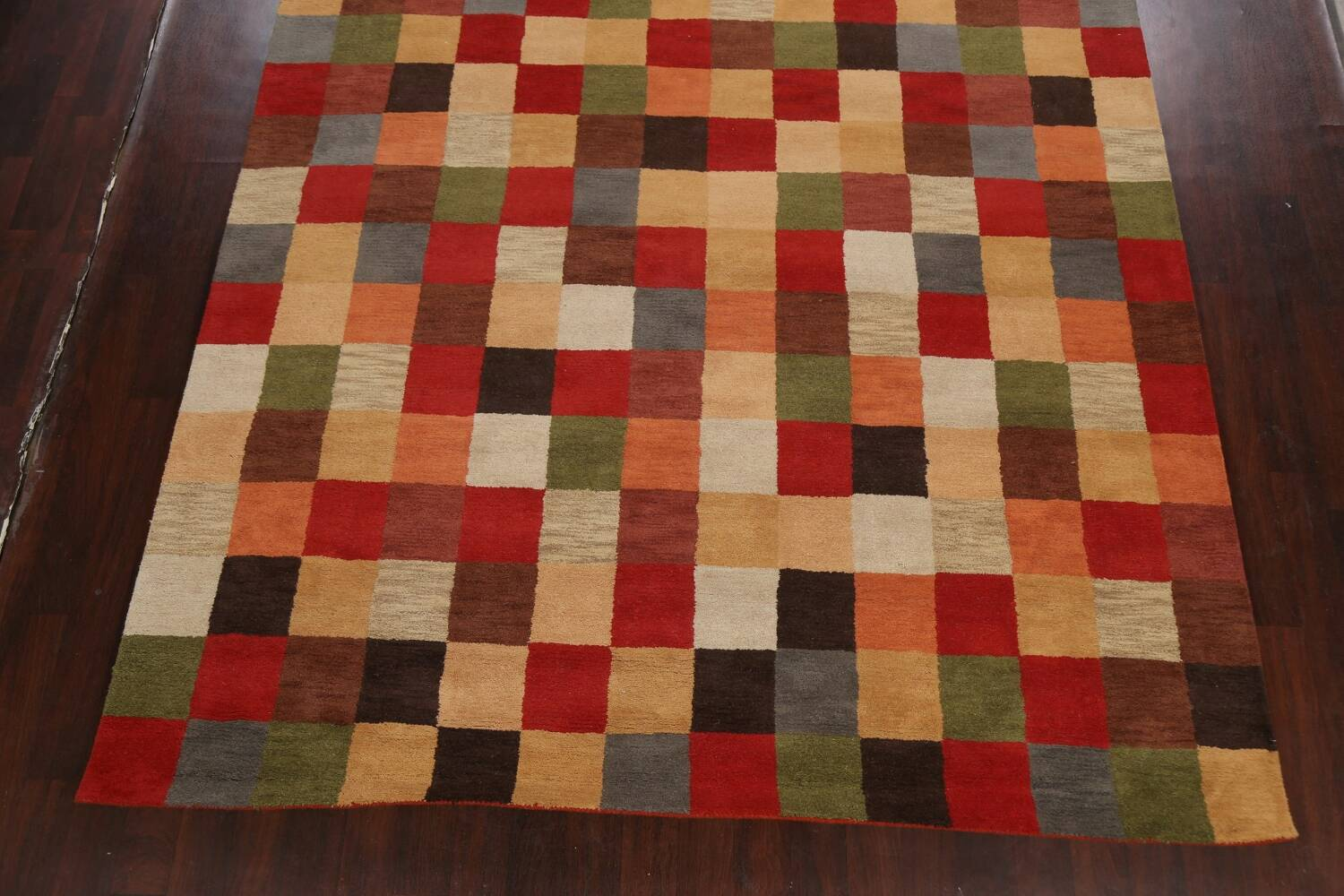 Checkered Area Rug 9x12 image 5